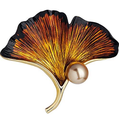 Broches Alfileres Abanico Retro Pin Bufanda Hebilla Chal Hebilla Bonita (Color : Yellow, Size : 4.3 * 3.6cm)