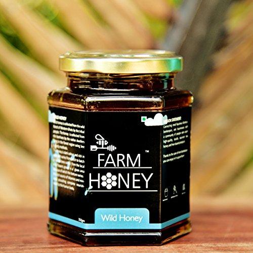 Farm Honey Wild Unprocessed Honey Pure Organic Raw Honey 100% Natural no preservatives  No Artificial Color no Added Sugar 250 Gm