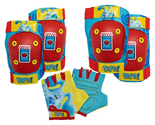Nickelodeon Blue's Clues & You Toddler and Kids Elbow/Knee Pads and Gloves, Blue/Red/Yellow