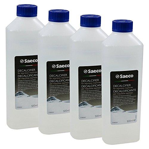 Saeco Flüssig-Entkalker für Kaffeevollautomaten, 500 ml Flasche, 4er Pack (4 x 500ml)
