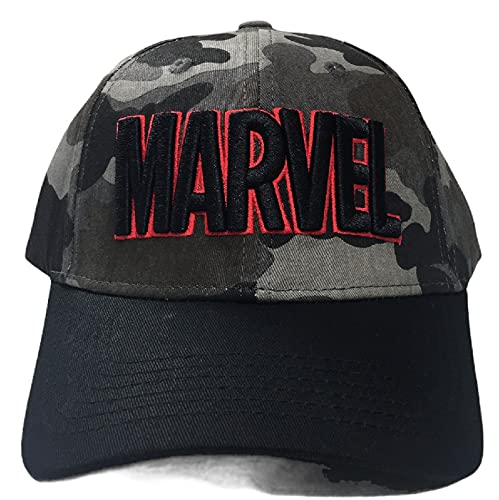 Marvel Military Logo Adult Cap - Friki Curved Visor Embroidered Marvel