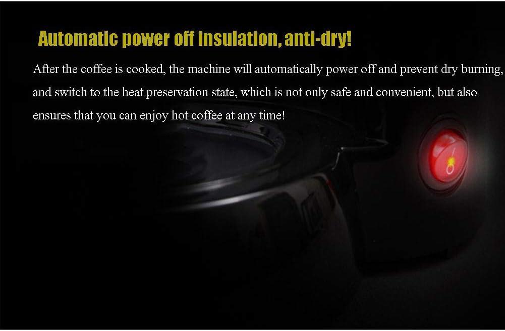 NLRHH Machine à café Intelligente Isolation Accueil Broyage Petit Machine à café Automatique Goutte à Goutte de Machine à café Antidéflagrant, Noir Peng (Color : Black) Black