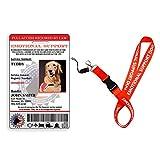 Custom Holographic Emotional Support Animal ID Card + Lanyard