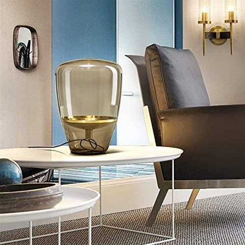 nakw88 Mesa de Comedor Creativa posmoderna de Cristal escandinavo de diseño Vintage de la Sala de Estar lámpara de Estudio Lámpara de Mesa