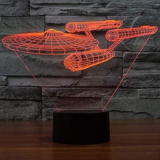Star Trek USS Enterprise 3D Led Night Light 7 Colors Changing Touch Switch Table Desk Lamp for Children Baby Bedroom Gift