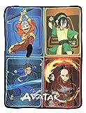 Avatar The Last Airbender Aang Toph Beifong Katara Zuko Fleece Throw Blanket