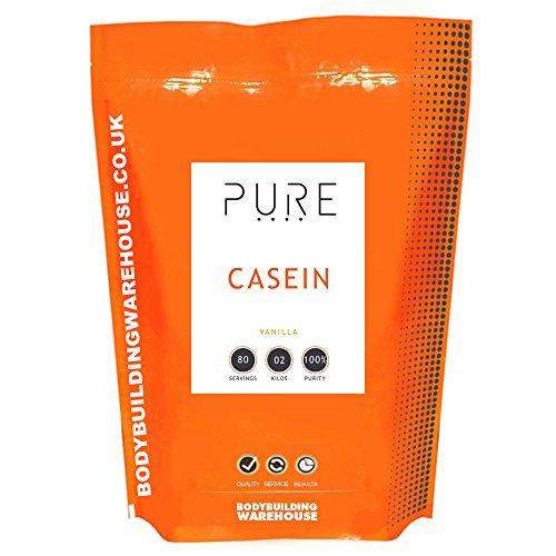 Bodybuilding Warehouse Pure Micellar Casein Slow Release Powder Vanilla 2 kg by Bodybuilding Warehouse
