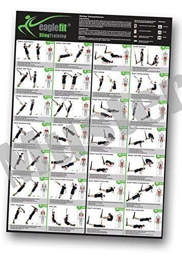eaglefit Sling Trainer Übungsposter/Trainingsposter mit 28 Übungen A1