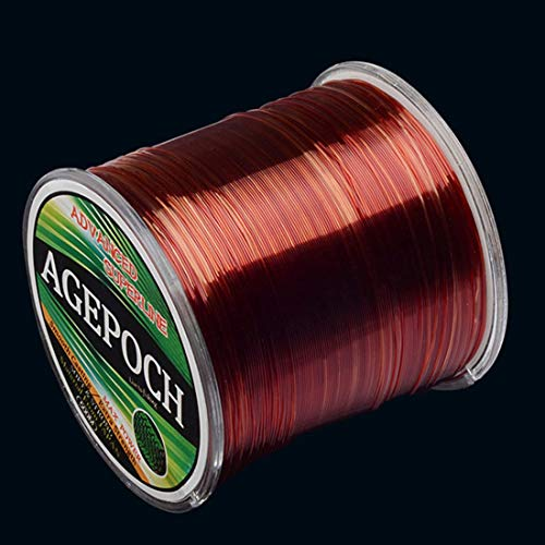 Y.Juvenile Monofilament Angelschnur 4.0 Anzahl 0.32mm 10.2kg Tension 500 m Super Strong Rohseide Nylon Angelschnur (Color : Wine Red)