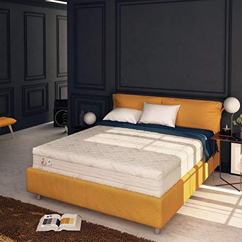 Baldiflex Emporio Materasso Matrimoniale Memory Plus Top Fresh 4 Strati 180 x 200 cm Alto 25 cm - Rivestimento Sfoderabile Silver Safe Cus. Saponetta incl.