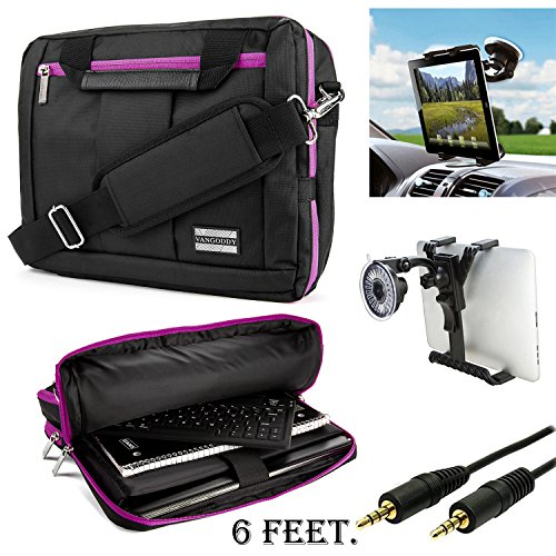 MyVangoddy El Prado Universal Nylon Bag Fits 8 to 10.1 inch Tablets (Amazon Fire, Dell, Samsung, Toshiba, Asus, Acer, HP and Auxiliary and Windshield Car Mount
