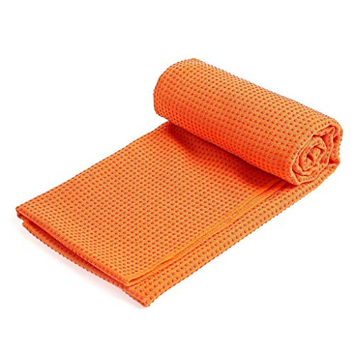 Momoxi Yogamatte rutschfestes Handtuch Yogadecke Yogamatte Handtuch 183X63cm gerader Punkt orange 2020 Fitness Für Zuhause, Gesund klettergerüst Kinder schaukel Garten Trampolin Test