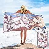 Sword Art Online Yuuki Asuna Toalla de secado rápido de microfibra ligera para adultos Toallas de playa suaves para piscina, natación, viajes, silla de baño, gimnasio, deportes, 27.5 x 55 pulgadas