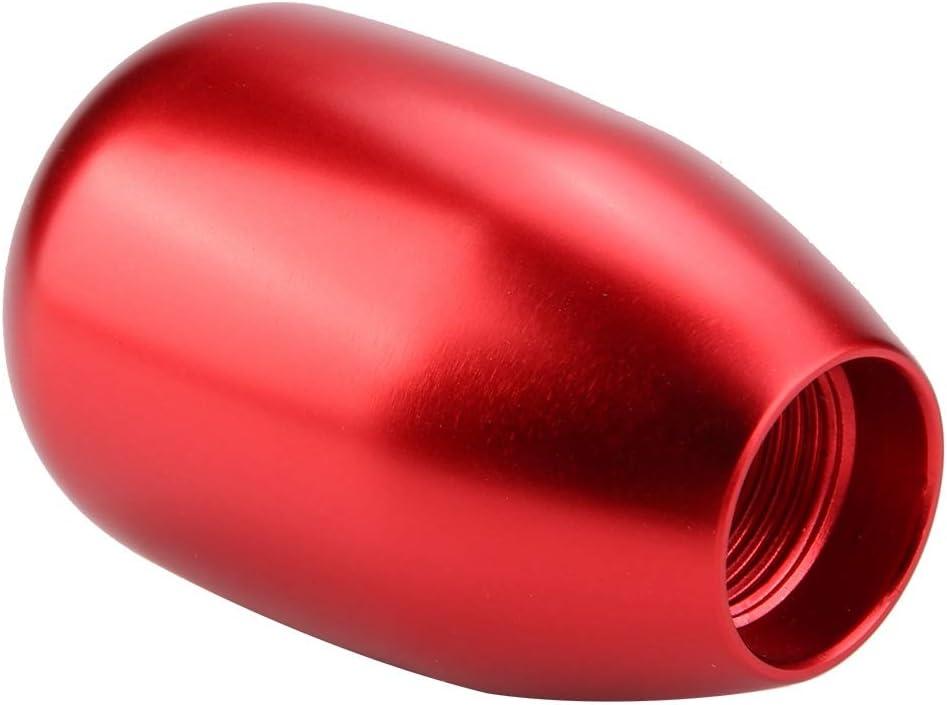 Qiilu Gear Shift Knob Metal Car 5 Speed Manual Gear Shift Knob Shifter Lever Stick with 3 Adapters 8//10//12mm Black