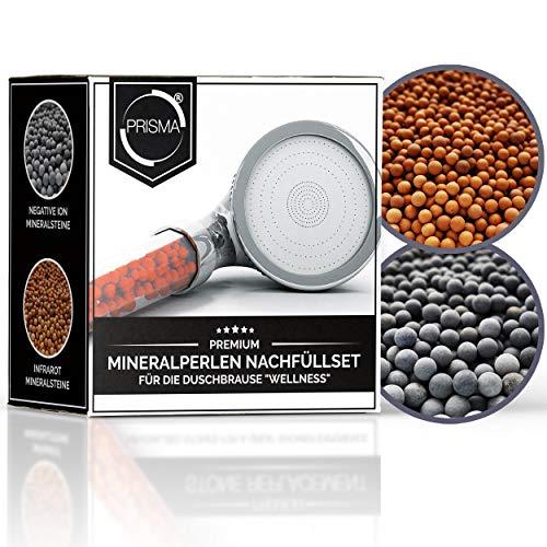 """PRISMA® Mineralperlen Nachfüllset für die Handbrause""""Wellness"""" von Prisma. Filtersteine wirken antibakteriell, ionenfilternd, mineralisierend und pH-hautneutral."""