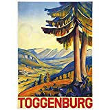 zkpzk Schweiz St.Gallen Tourismus Poster Toggenburg 1938