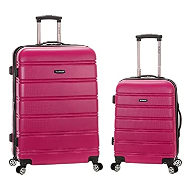 Rockland 20 Inch 28 Inch 2 Piece Expandable Abs Spinner Set, Magenta, One Size