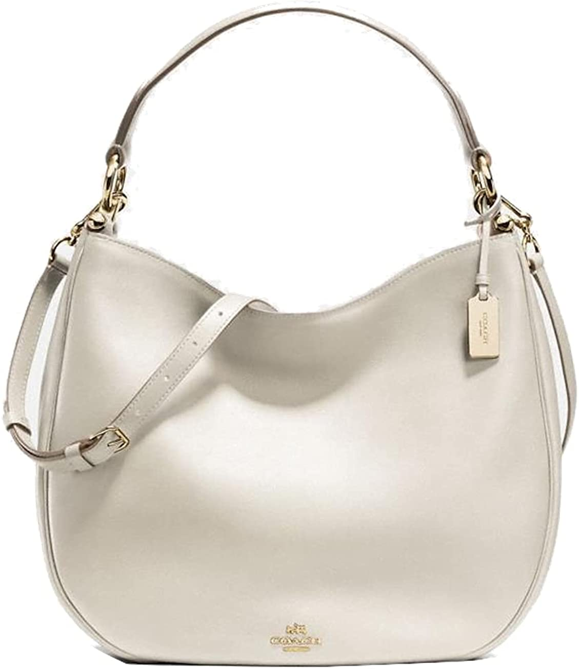 COACH NOMAD HOBO IN GLOVETANNED LEATHER F36026, CHALK