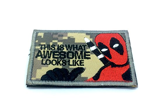 This Is What Awesome Looks Like–Deadpool-, Softair, Paintball, ACU, 80mm x 50mm