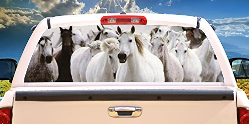 SignMission Horses Rear Window Graphic Horse Scene Tint Decal View Thru Vinyl