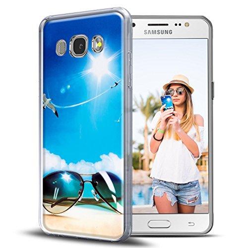 Preisvergleich Produktbild Conie PC30956 Picture Case Kompatibel mit Samsung Galaxy J5,  Rückschale mit Motiven Silikon TPU Backcover für Galaxy J5 Bumper Motiv Sommer