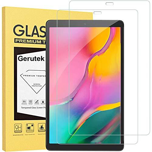 Gerutek [2 Stück] Schutzfolie für Samsung Galaxy Tab A T515/T510 10.1 2019, 9H Festigkeit, 2.5D, Bildschirmfolie Schutzglas Bildschirmschutz Für Samsung Galaxy Tab A 10.1 Zoll 2019 T515/T510