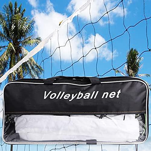 LBYDXD Red de Voleibol portátil al Aire Libre, Red de Voleibol de Playa, Juego de Playa rápida con Bolsa de Transporte para niños y Adultos, 9.5X 1M, PE Material (Size : 9.5x1M)