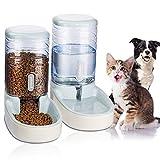 UniqueFit Pets Gatos Perros Riego automático y alimentador de Alimentos 3.8 L con 1 * dispensador de Agua y 1 * alimentador automático para Mascotas (Gris)