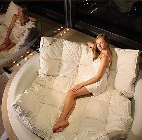 ZHAS Coprimaterasso per Hotel in Piuma D'Oca, copriletto in Tatami Spesso Ultra Morbido Materasso per futon Pieghevole Portatile Topper-bianco-5cm Queen: 150x200cm (59x79inch)