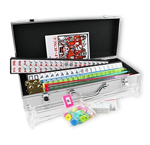 Kai Tai Inc 4 Pushers Complete American Mahjong Set in Aluminum Case, 166 Tiles(mah Jong Mah Jongg Mahjongg)