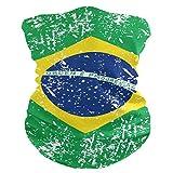 Fashion Bandanas,Brazil Flag Headwear Seamless Neck Gaiter, Headwrap, Balaclava, Helmet Liner for Motorcycle Riding Biker Fishing Hunting Outdoor Running
