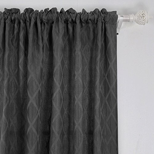 Deconovo Meridian Pattern Thermal Insulated Curtains 52X84Inch Khaki