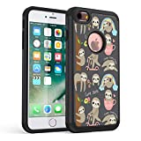 iPhone 7 Case,iPhone 8 Case, Rossy Heavy Duty Hybrid TPU Plastic Dual Layer Armor Defender Protection Case Cover for Apple iPhone 8 2017 / iPhone 7 2016,Cute Sloth