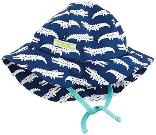Loud + Proud Hat with Print Organic Cotton Bonnet, Bleu (Ultramarin UL), 74/80 Bébé garçon