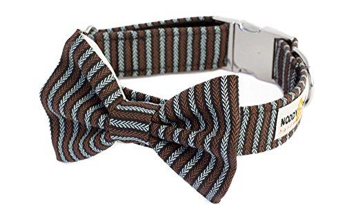 Noddy & Sweets Hundehalsband mit Fliege, handgefertigt [Tweed Herringbone]