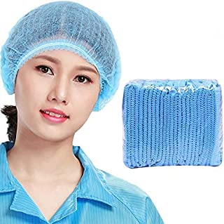 Themsito Disposable Bouffant Caps for Surgical,Restaurants & Home Use,100 PCs, (Blue)