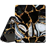 RicHyun iPad Pro 12.9 Case 2020 & 2018 with Pencil Holder, Smart Trifold Stand Protective Leather Case with Soft TPU Back Cover for New Apple iPad Pro 4th & 3rd Generation 12.9 Inch,Black Marble