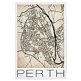 artboxONE Poster 120x80 cm Städte Retro Map Perth Vintage