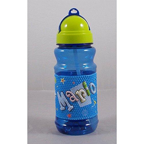 My Name - Gourde de sport en plastique avec prénom « Mario », en relief, 19 cm de hauteur