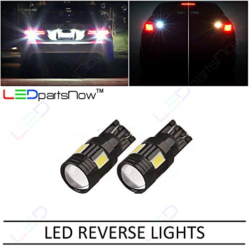 LEDpartsNow WHITE LED Reverse BackUp Replacement Light Bulbs for 2009-2014 Ford F150 F-150 Accessories 921 T10 906 912 901 906 909 T15 (2 Pieces)
