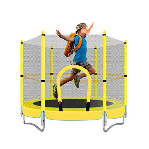 Seguridad para el hogar Cama de trampolín para niños Que Salta,con Carcasa de Red de Seguridad y Almohadilla de Espuma; r Hamaca Redonda al Aire Libre para Interiores Actividad Deportiva