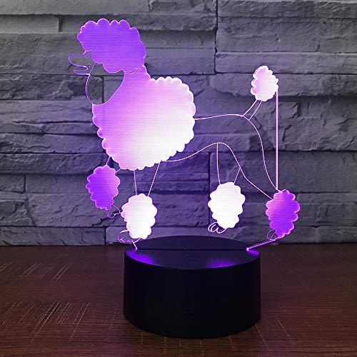 Aoyuhf Licht Der Nacht 3D Farbe Des Lichtes 7 Des Lichtes Vip-Hundehundenachtlichtkindnote Schlafendes Nachtlicht Des Usb-Babys