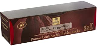 Cacao Barry Bittersweet Chocolate Baking Sticks - 44% Cacao - 300 x 8 cm sticks - 3.5 lbs total