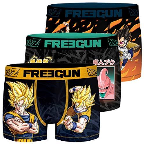 FREEGUN Lot de 3 Boxers Homme Dragon Ball Z