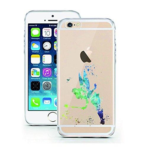 Handyhülle AQUARELL Disney kompatibel für Samsung Galaxy A50 Fee Tinkerbell Aquarell Schutz Hülle Case Bumper transparent rund um Schutz Cartoon M13