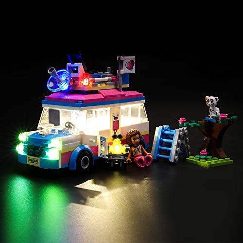 LIGHTAILING Licht-Set Für (Friends Olivias Rettungsfahrzeug) Modell - LED Licht-Set Kompatibel Mit Lego 41333(Modell Nicht Enthalten)