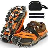 Sfee Ice Snow Grips Crampons Traction Cleats Spikes 19 Spikes for Women Men,Anti