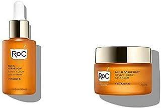 RoC Multi Correxion Revive + Glow Skin Care Regimen Bundle: Vitamin C Serum for Face + Vitamin C Cream for Tighter, Bright...