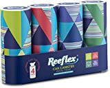 Reeflex Car Tissues (4 Canisters/200 Tissues) - Disposable Facial Tissues Boxed in Canisters with Perfect Cup Holder Fit | Quality Car Travel Tissues That are Soft, Durable, 2-Ply, Thick & Convenient