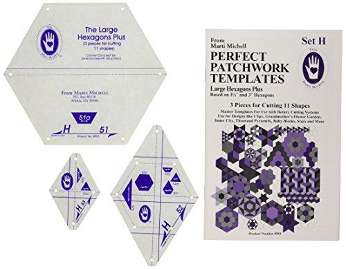 Patchwork Parfait Marti Saunders modèle Grand hexagonale Set H, Lot de 3